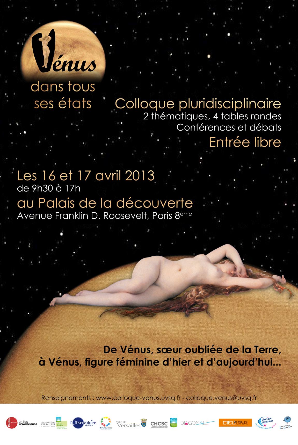Affiche Colloque Vénus