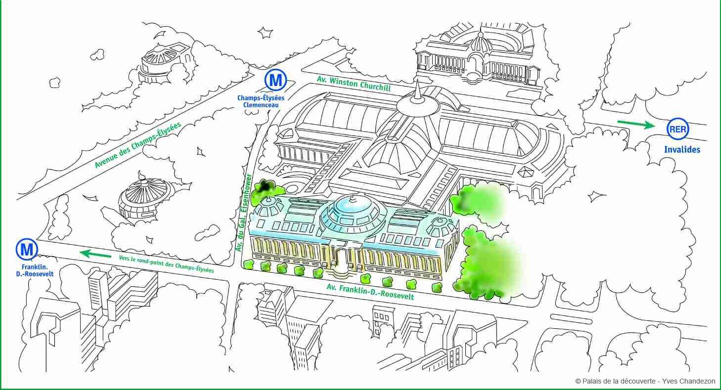 Plan d'accès - Palais de la découverte