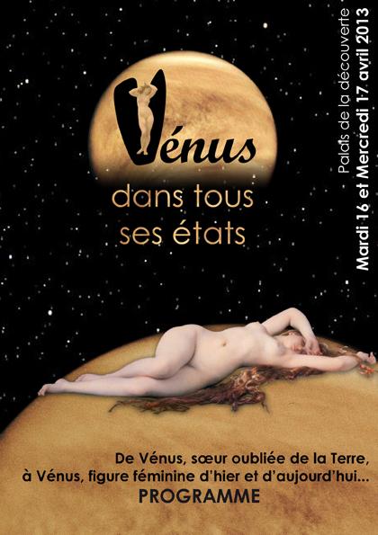 Programme Colloque Vénus